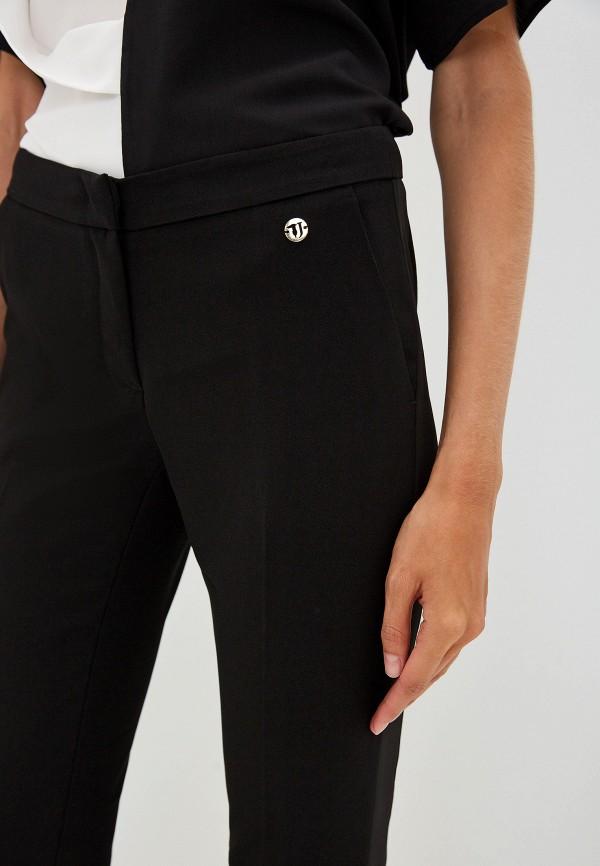 Фото 4 - женские брюки Trussardi Jeans черного цвета