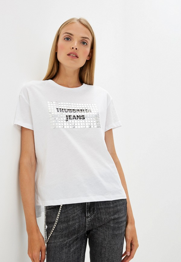 Футболка Trussardi Jeans Trussardi Jeans TR016EWFTCQ7 футболка trussardi jeans trussardi jeans tr016emdocb1