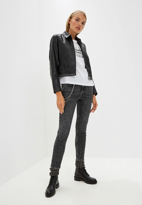Фото 2 - женскую футболку Trussardi Jeans белого цвета