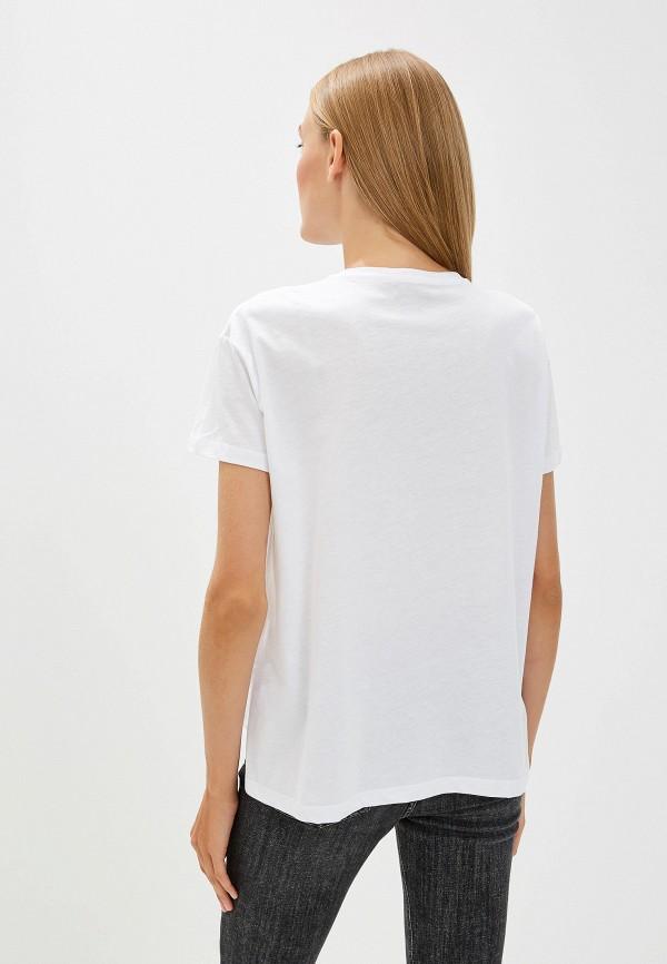 Фото 3 - женскую футболку Trussardi Jeans белого цвета