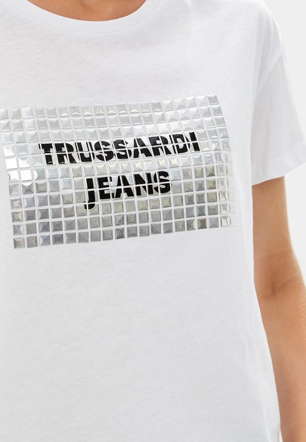 Фото 4 - женскую футболку Trussardi Jeans белого цвета