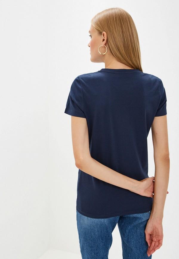 Фото 3 - женскую футболку Trussardi Jeans синего цвета