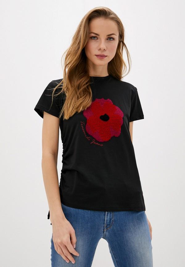 Фото - женскую футболку Trussardi Jeans черного цвета