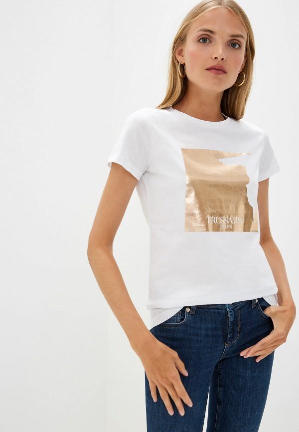 Фото - женскую футболку Trussardi Jeans белого цвета
