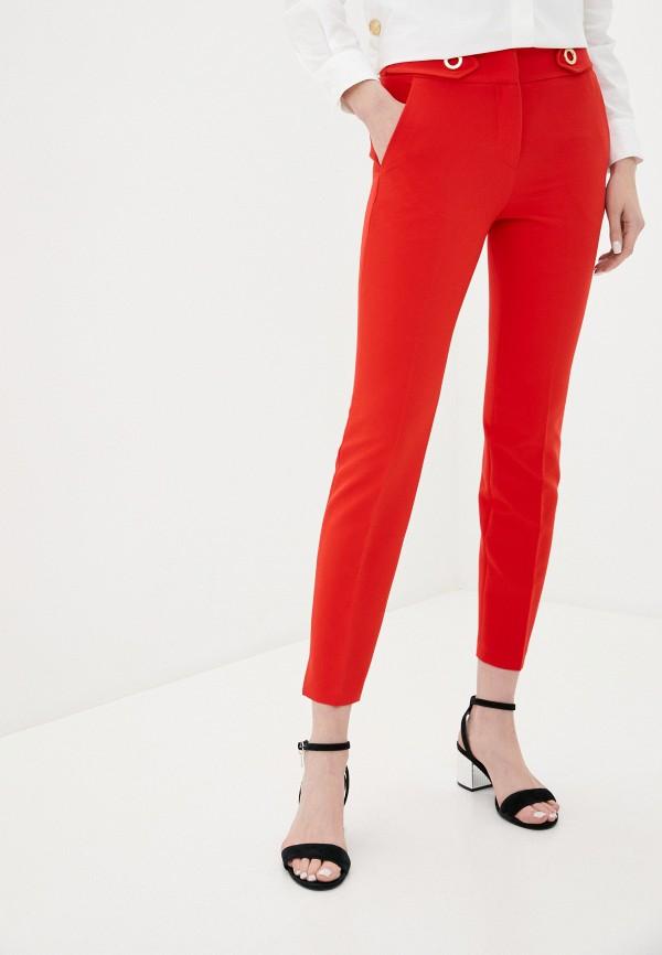 женские повседневные брюки trussardi, красные