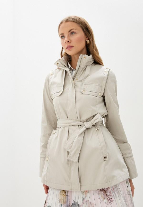 женская куртка trussardi, бежевая