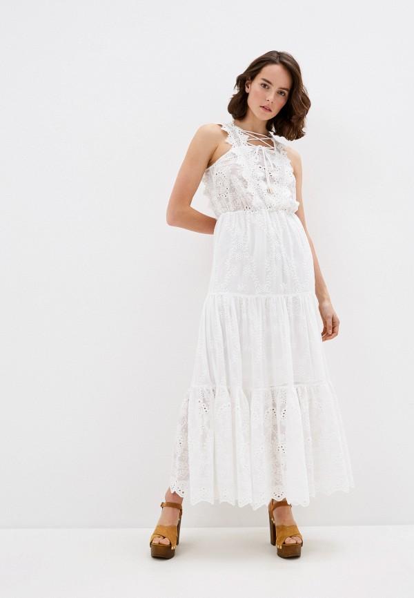женское повседневные платье trussardi, белое