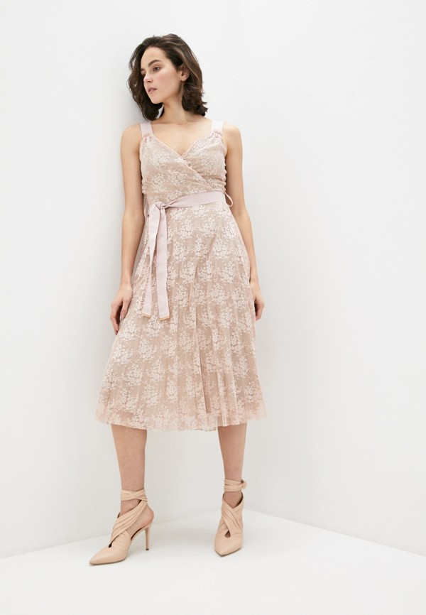 женское повседневные платье trussardi, бежевое