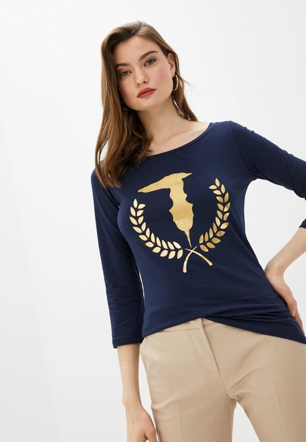 женский лонгслив trussardi, синий