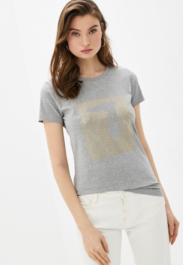 женская футболка trussardi, серая