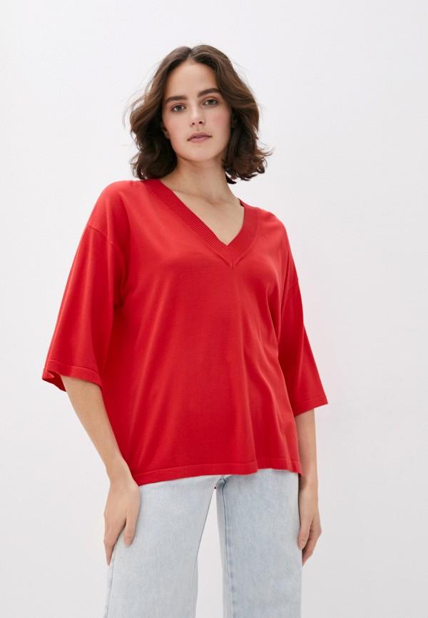 женский пуловер trussardi, красный