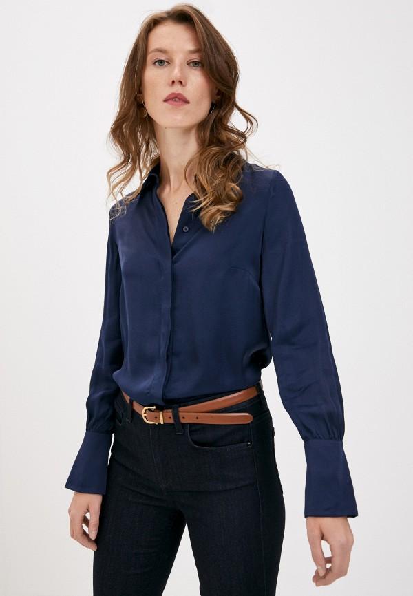 женская блузка trussardi, синяя
