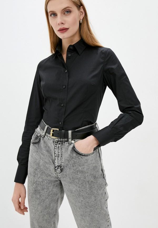 женская рубашка с длинным рукавом trussardi, черная