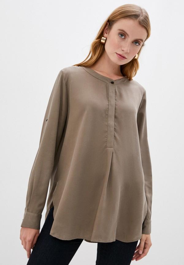 женская блузка trussardi, коричневая