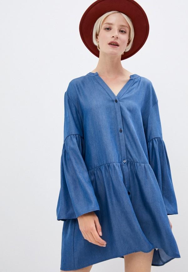 женское джинсовые платье trussardi, синее