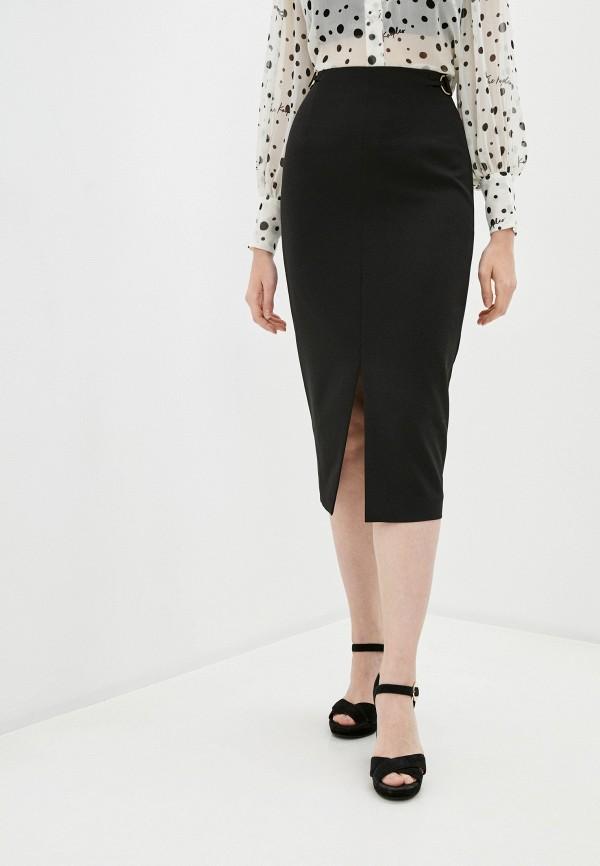 женская зауженные юбка trussardi, черная