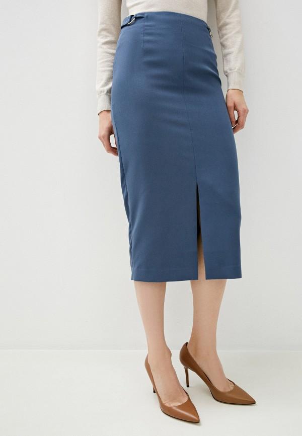 женская прямые юбка trussardi, голубая