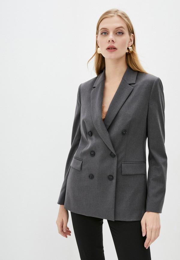 женский пиджак trussardi, серый
