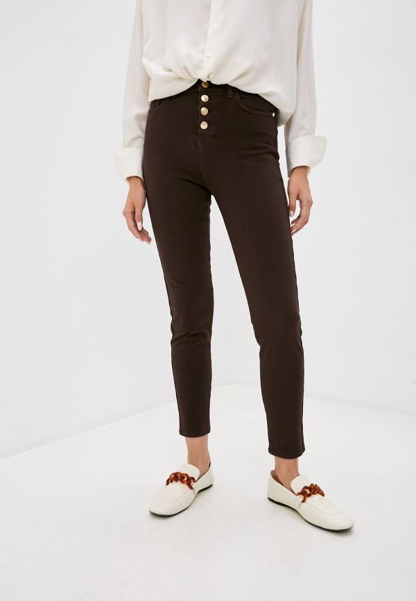 женские джинсы trussardi, коричневые