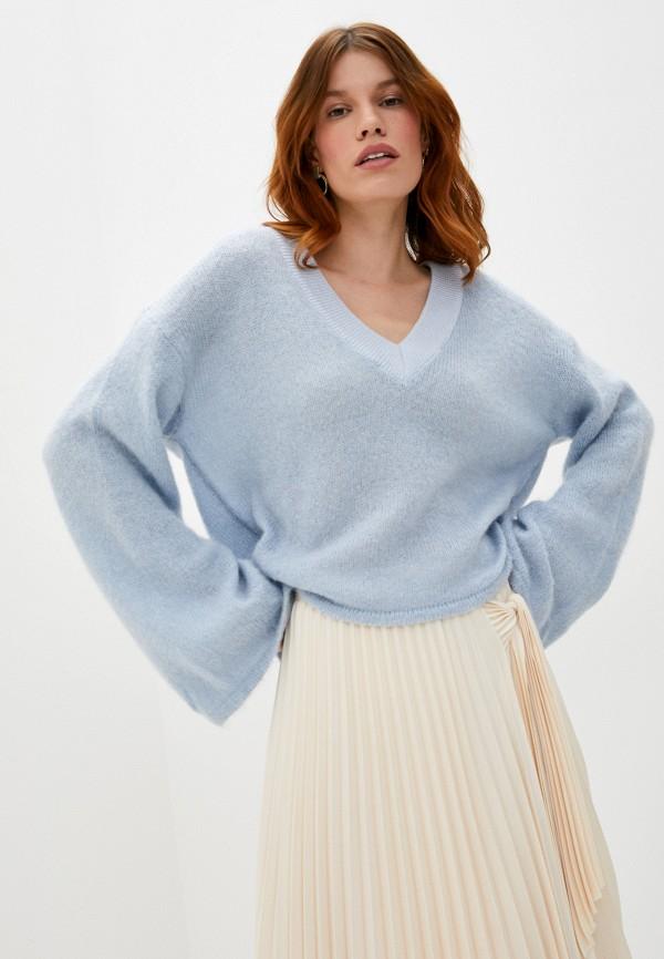 женский пуловер trussardi, голубой