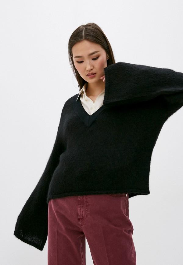 женский пуловер trussardi, черный