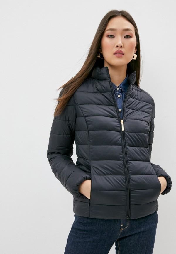 женская куртка trussardi, черная