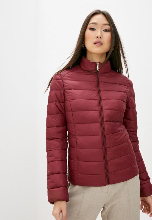 женская куртка trussardi, бордовая