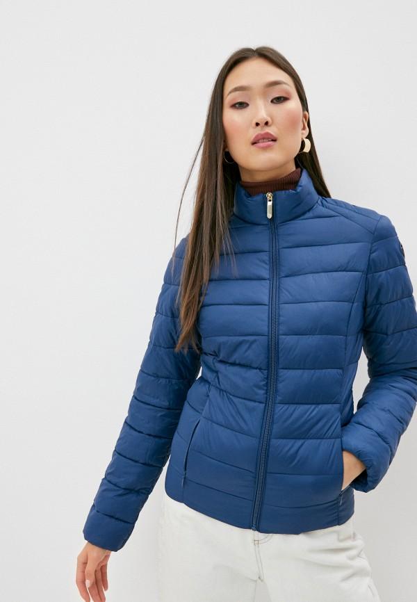 женская куртка trussardi, синяя
