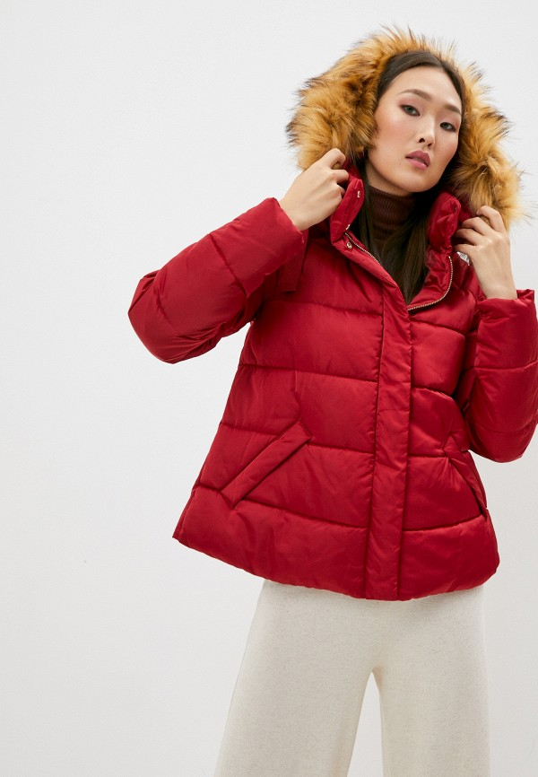 женская куртка trussardi, красная