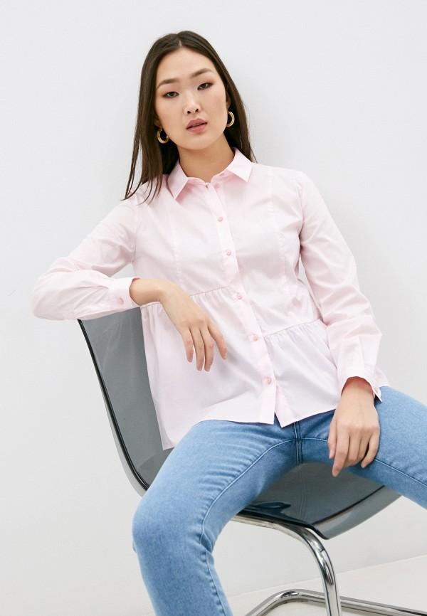 женская блузка trussardi, розовая