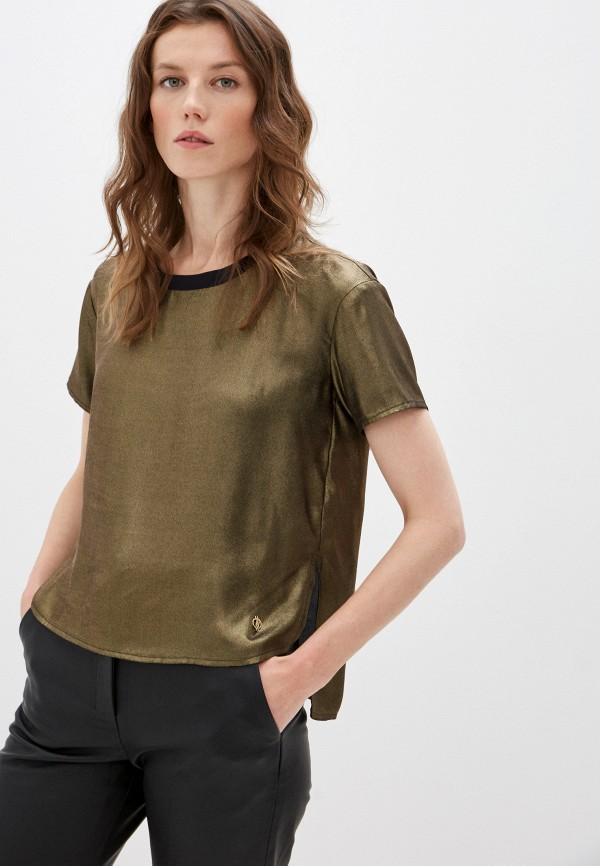 женская блузка trussardi, золотая