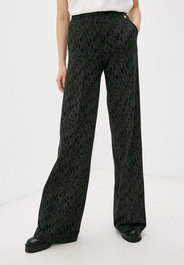женские повседневные брюки trussardi, черные