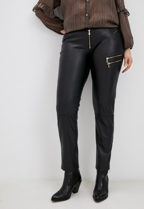 женские зауженные брюки trussardi, черные