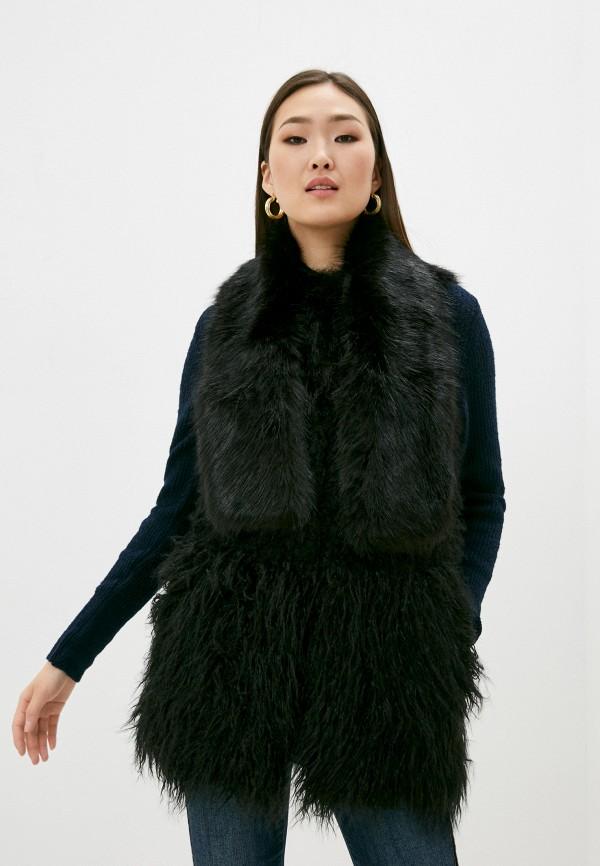 женский жилет trussardi, черный