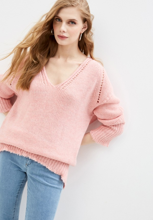 женский пуловер trussardi, розовый