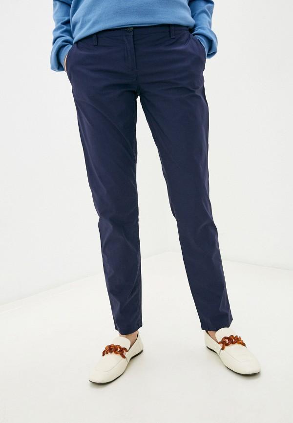 женские повседневные брюки trussardi, синие