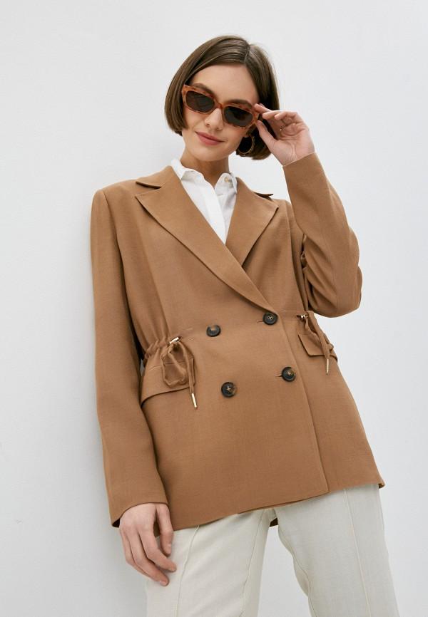 женский пиджак trussardi, бежевый