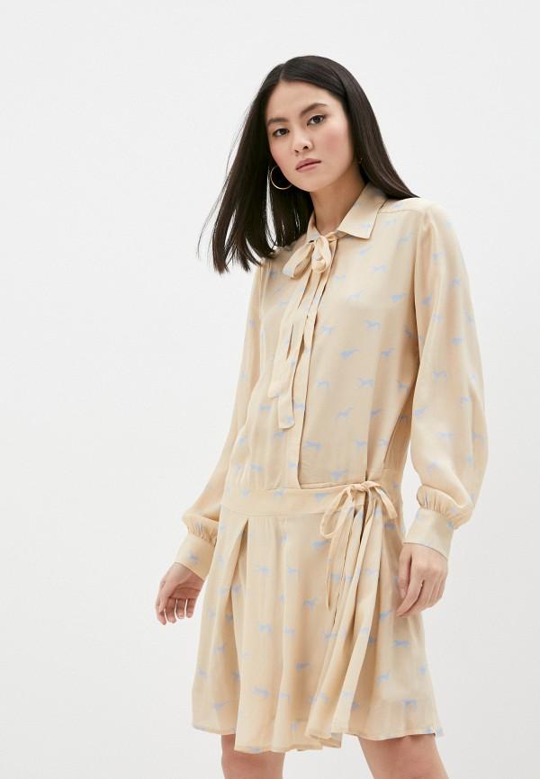 женское платье trussardi, бежевое
