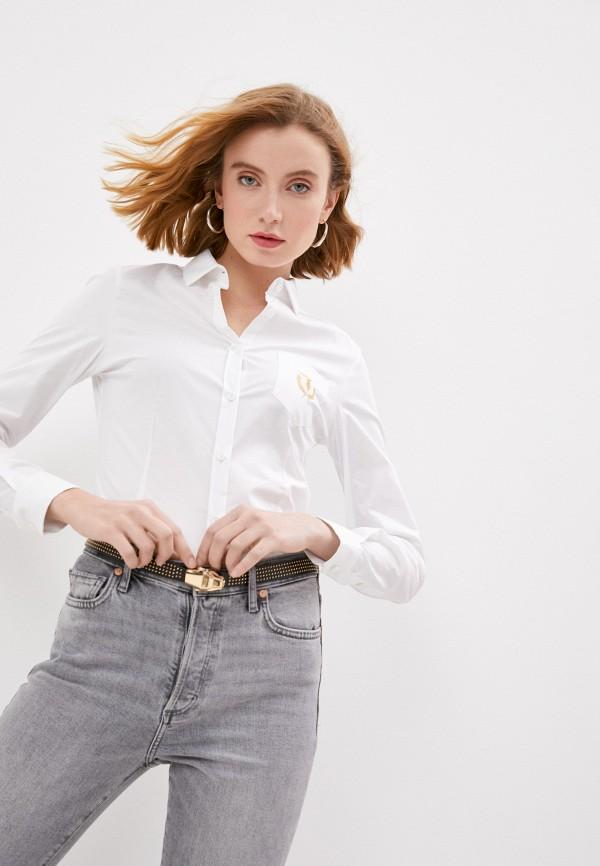 женская рубашка с длинным рукавом trussardi, белая