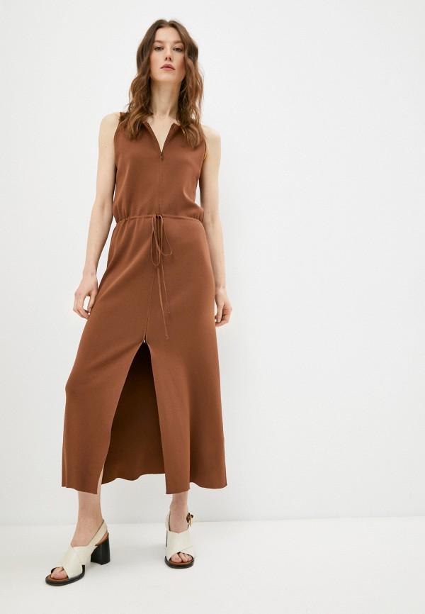 женское платье trussardi, коричневое