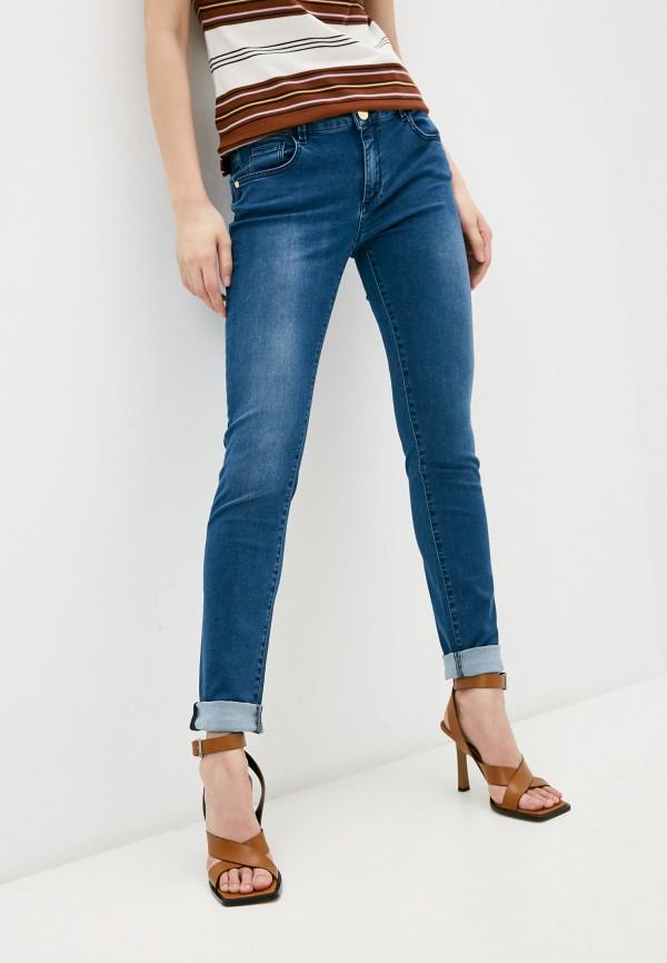 женские джинсы скинни trussardi, синие
