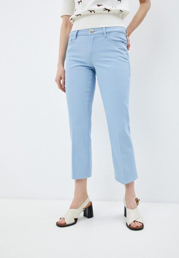 женские прямые джинсы trussardi, голубые