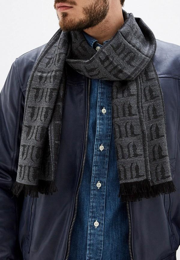 Фото 3 - мужской шарф Trussardi Jeans серого цвета