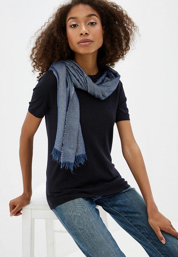 Фото 3 - женский палантин Trussardi Jeans синего цвета