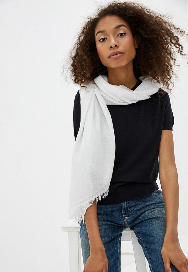 Фото 3 - женский палантин Trussardi Jeans серебрянного цвета