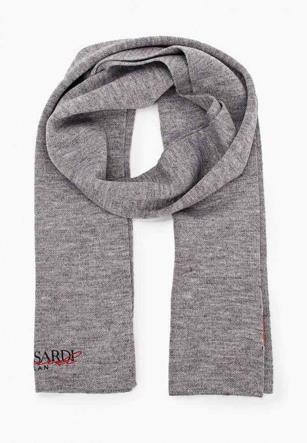 женский шарф trussardi, серый