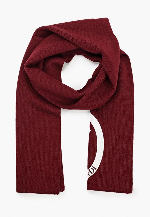 женский шарф trussardi, бордовый