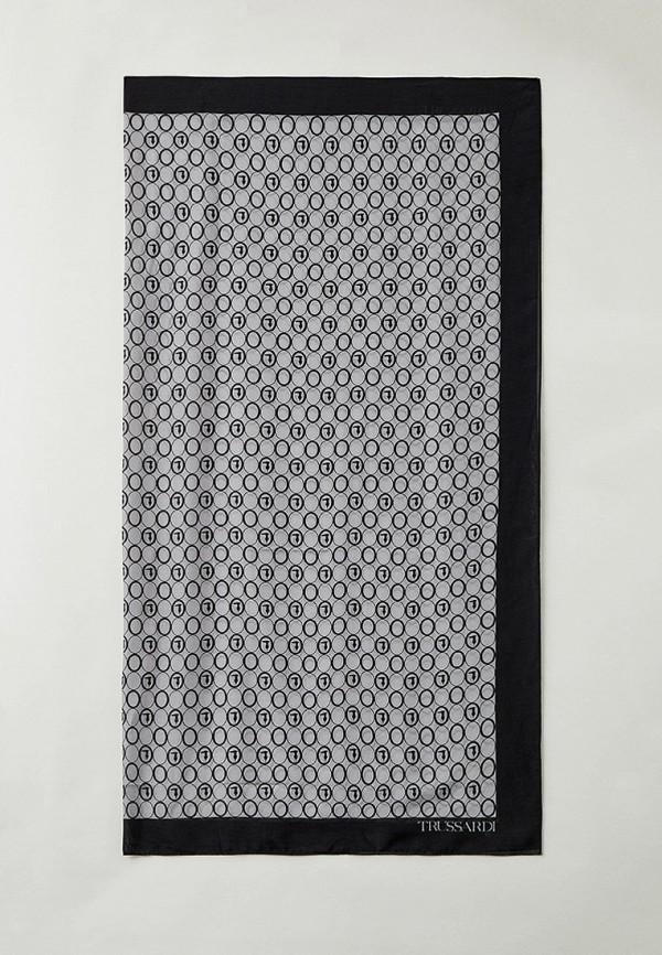 женский палантин trussardi, серый