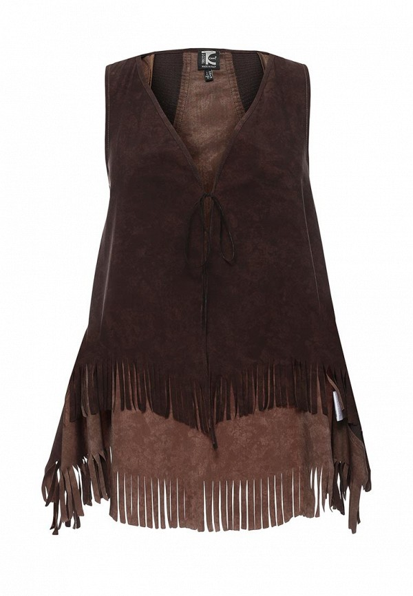 женский жилет tricot chic, коричневый