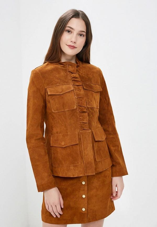 Купить Куртка кожаная Trucco, tr030ewcylp8, коричневый, Осень-зима 2018/2019